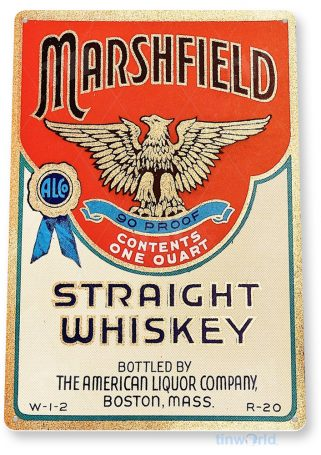 d214 marshfield whiskey sign tinworld tinsign_com