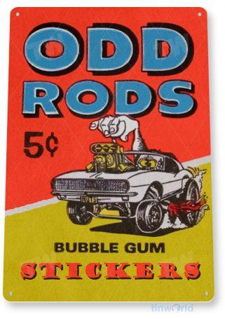 d218 odd rods bubble gum sign tinworld tinsign_com