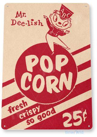 d239 popcorn sign tinworld tinsign_com