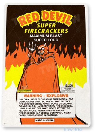 d242 red devil fireworks sign tinworld tinsign_com