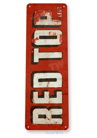 d244 red top beer sign tinworld tinsign_com