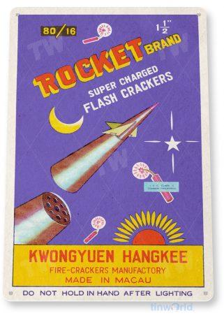 d248 rocket fireworks sign tinworld tinsign_com