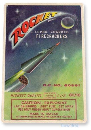 d249 rocket fireworks sign tinworld tinsign_com