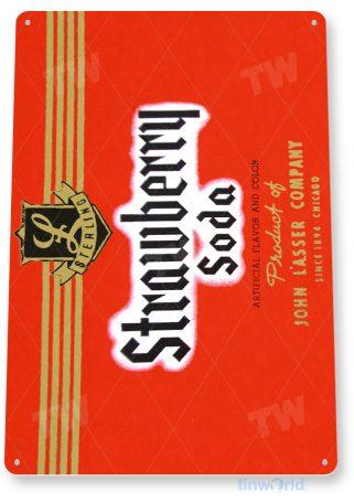 d254 sterling strawberry soda sign tinworld tinsign_com