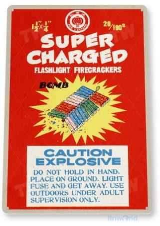 d255 super charged fireworks sign tinworld tinsign_com