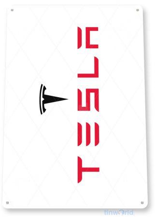 d258 tesla sign tinworld tinsign_com