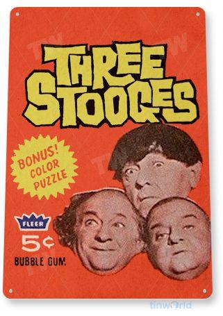 d261 three stooges bubble gum sign tinworld tinsign_com