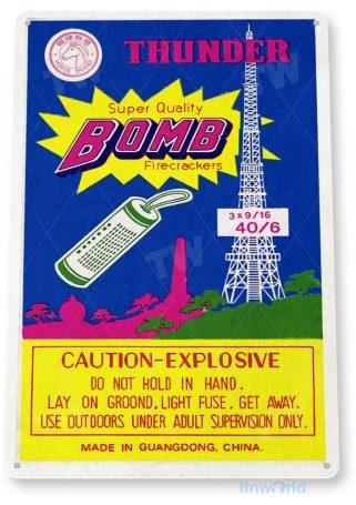 d262 thunder bomb fireworks sign tinworld tinsign_com