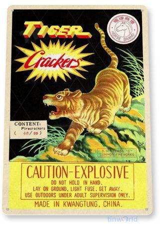 d263 tiger crackers fireworks sign tinworld tinsign_com