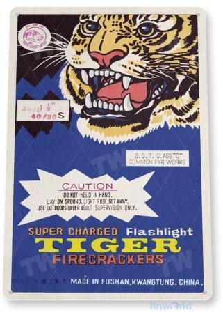 d264 tiger fireworks sign tinworld tinsign_com