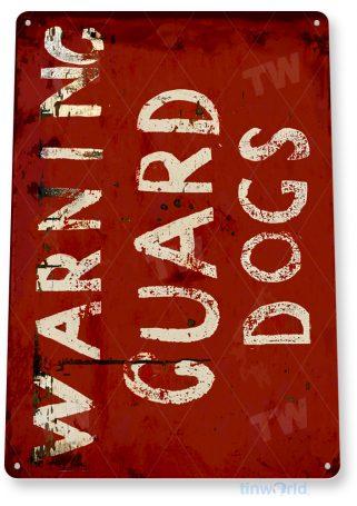 d266 warning guard dog sign tinworld tinsign_com