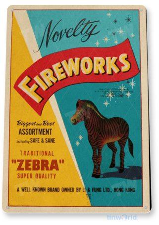d269 zebra fireworks sign tinworld tinsign_com